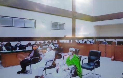 Habib Rizieq Shihab dalam sidang lanjutan di Pengadilan Negeri Jakarta Timur, Kamis (27/5/2021)