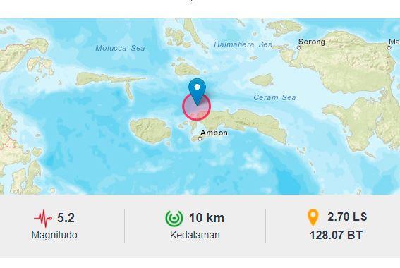 Gempa Minggu tengah malam guncang Seram