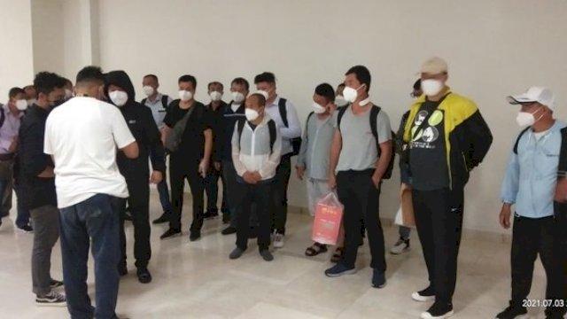 20 TKA China tiba di Sulawesi Selatan, Sabtu (4/7/2021) tapi disebutkan masuk Indonesia sebelum PPKM Darurat