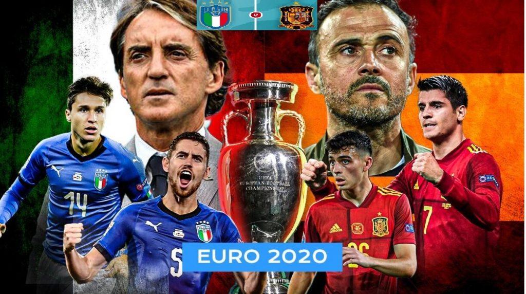 Italia melawan Spanyol merupakan pertarungan dua mantan juara dan kiblat sepakbola dunia