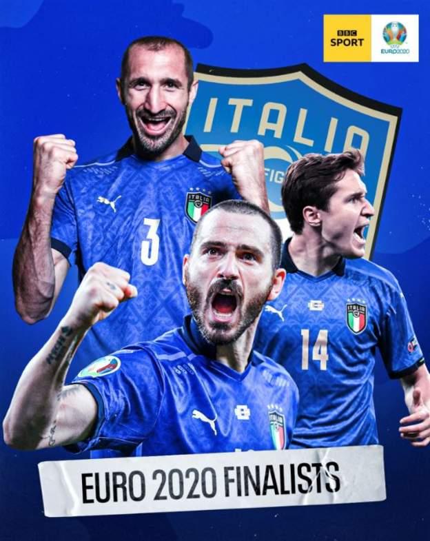 Italia ke final menunggu pemenang Inggris melawan Denmark