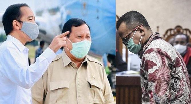 Mantan Menteri Kelautan dan Perikanan Edhy Prabowo dalam pledoinya meminta maaf secara khusus kepada Presiden Joko Widodo dan Ketua Umum Partai Gerindra Prabowo Subianto