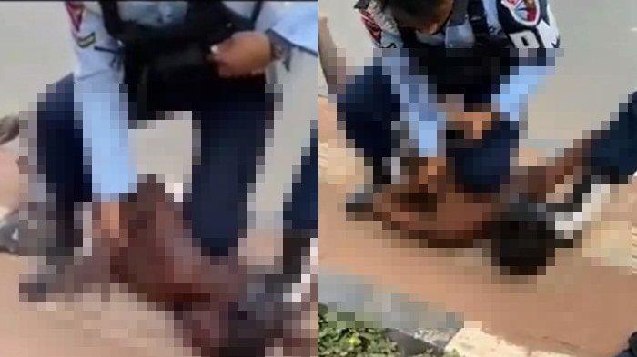 Kasus kekerasan di Merauke yang sempat viral di Medsos. (Ist).