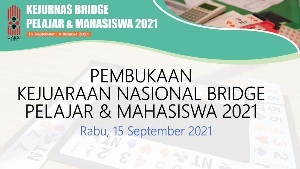 Ketum PB Gabsi Miranda S Goeltom membuka Kejurnas Bridge Pelajar/Mahasiswa Online 2021 secara daring