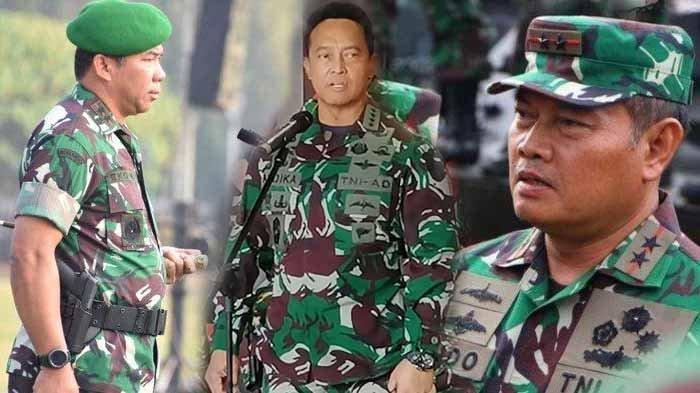 Beredar calon Panglima TNI mulai dari Kasum TNI Letjen Eko Margiyono, KSAD Jenderal Andika Perkasa dan KSAL Laksamana Yudo Margono. (Ist)